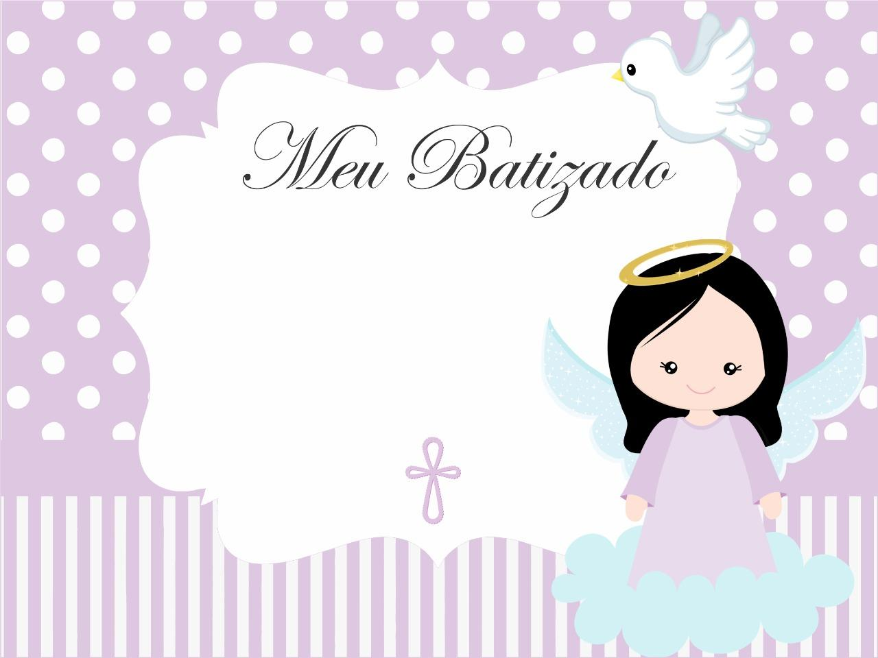 convite batizado feminino