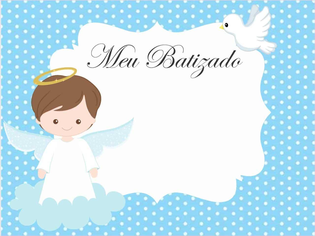 convite masculino batizado