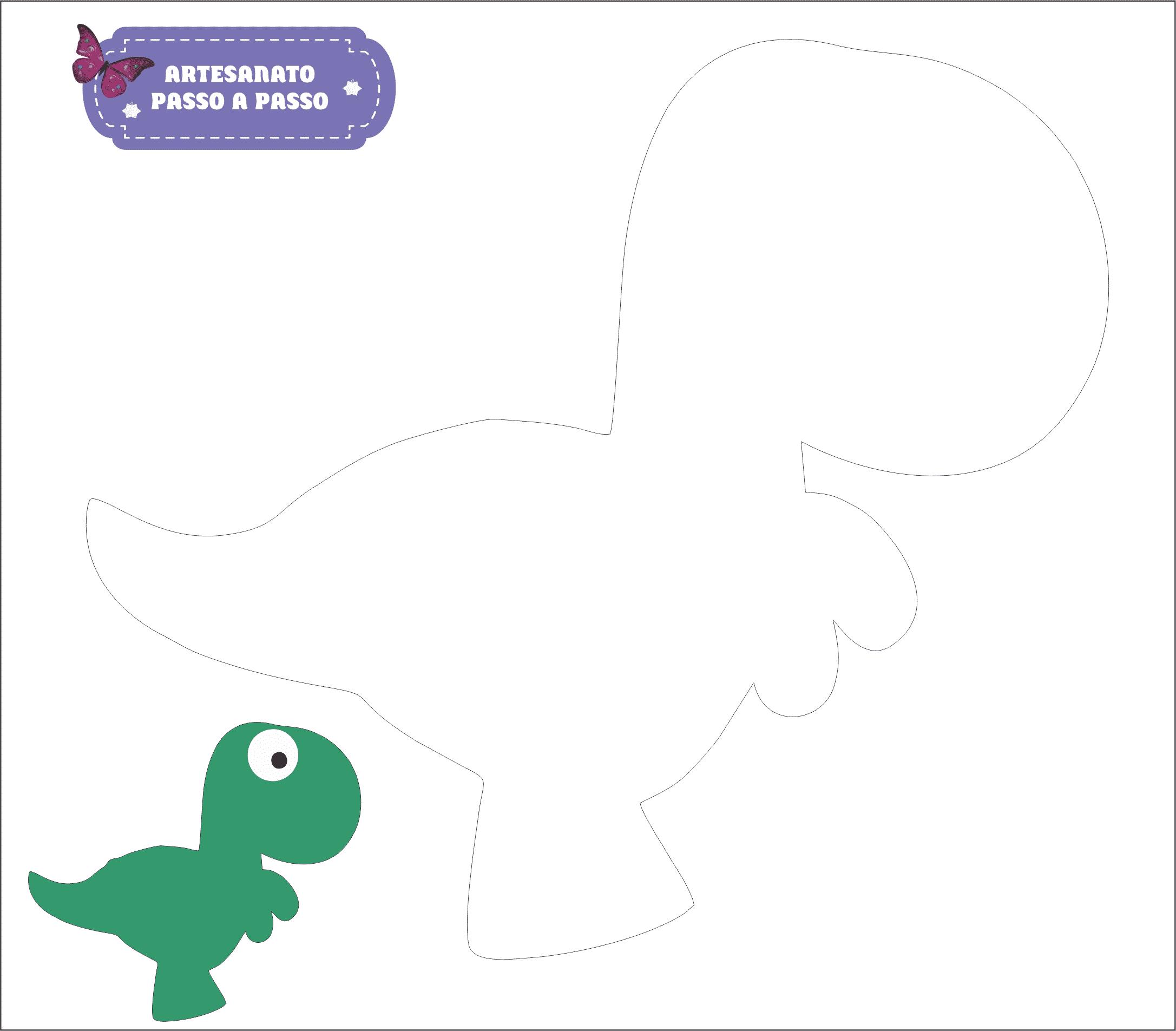 molde dinossauro 3