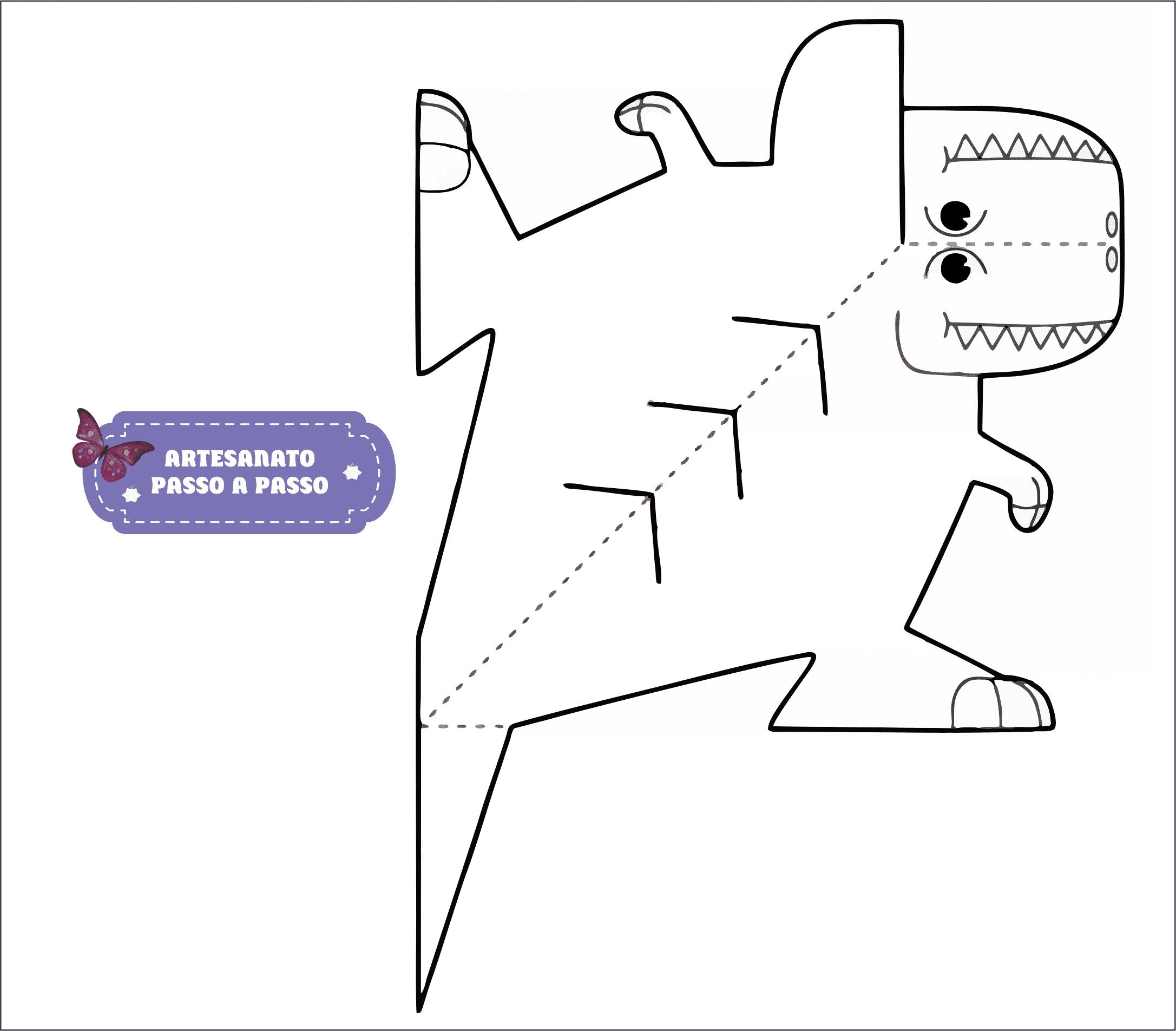 Molde De Dinossauro Artesanato Passo A Passo