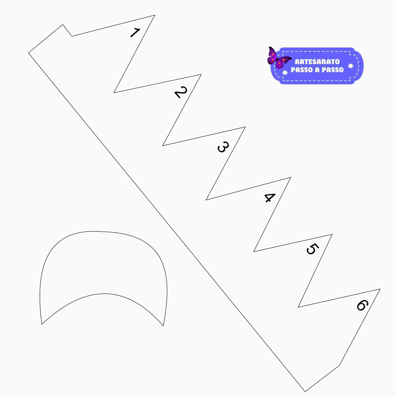 Depois você irá passar o desenho do molde para o E.V.A com a ponta de um  palito de churrasco apenas marcar para facilitar o corte a2930b1c889