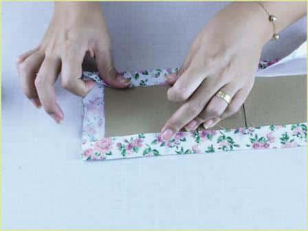 Caixinha de Papelão decorada Passo a Passo 12