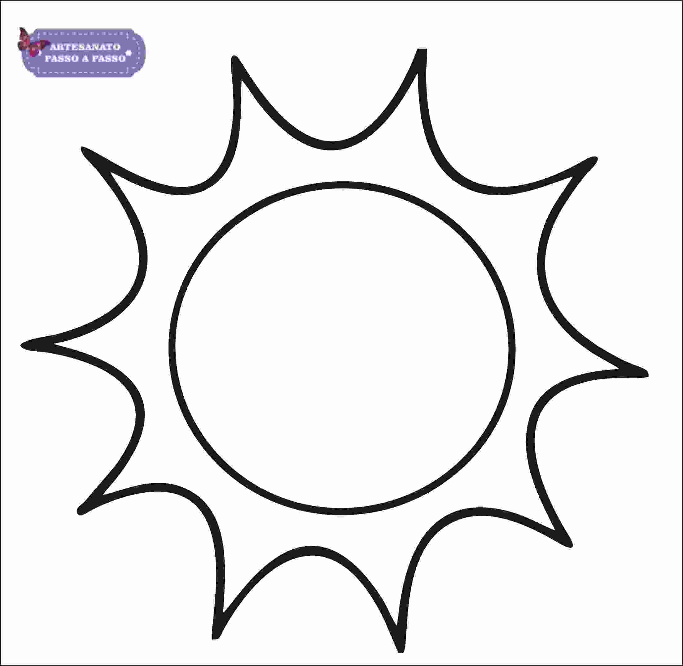 Molde De Sol Para Imprimir Artesanato Passo A Passo