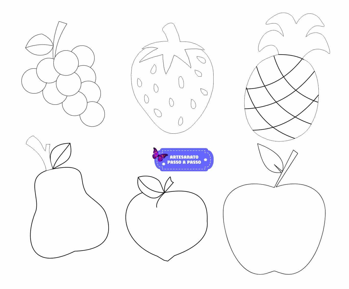 Molde De Frutas Para Imprimir Artesanato Passo A Passo