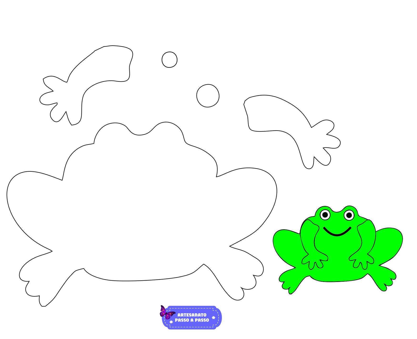 Desenho De Sapo Moldes Animados Artesanato Passo A Passo