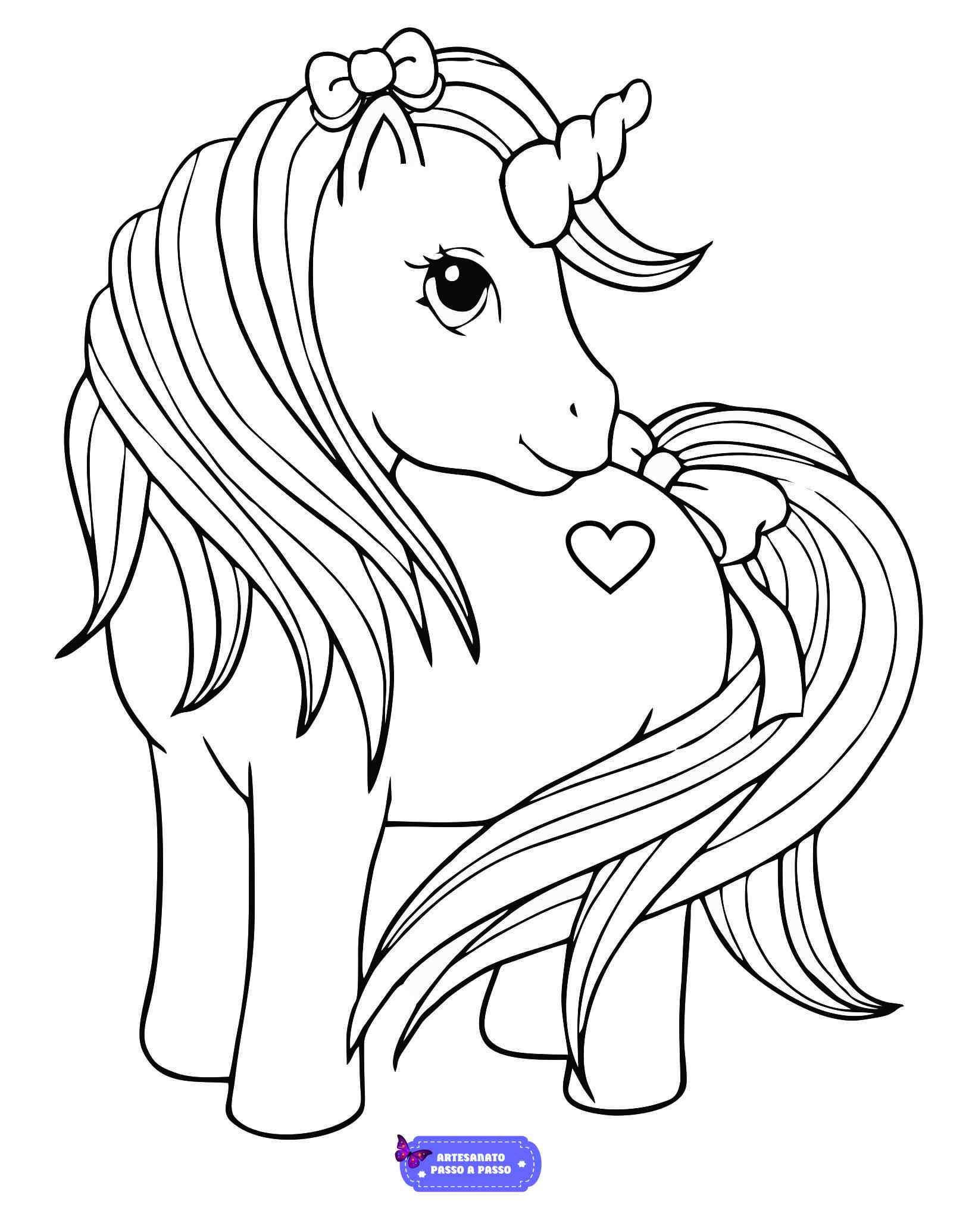 Desenho para colorir de unicórnio