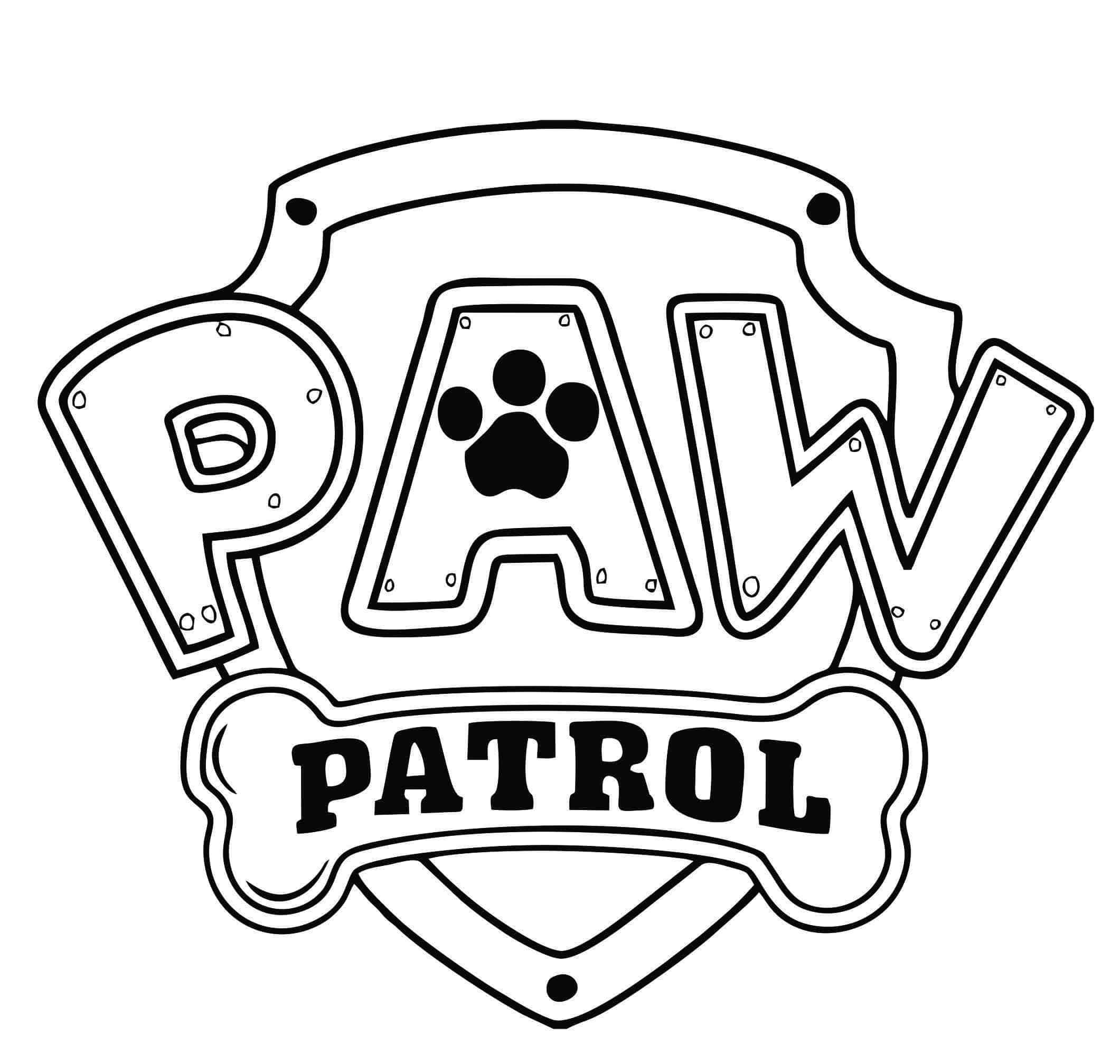 Desenho para pintar da patrulha canina