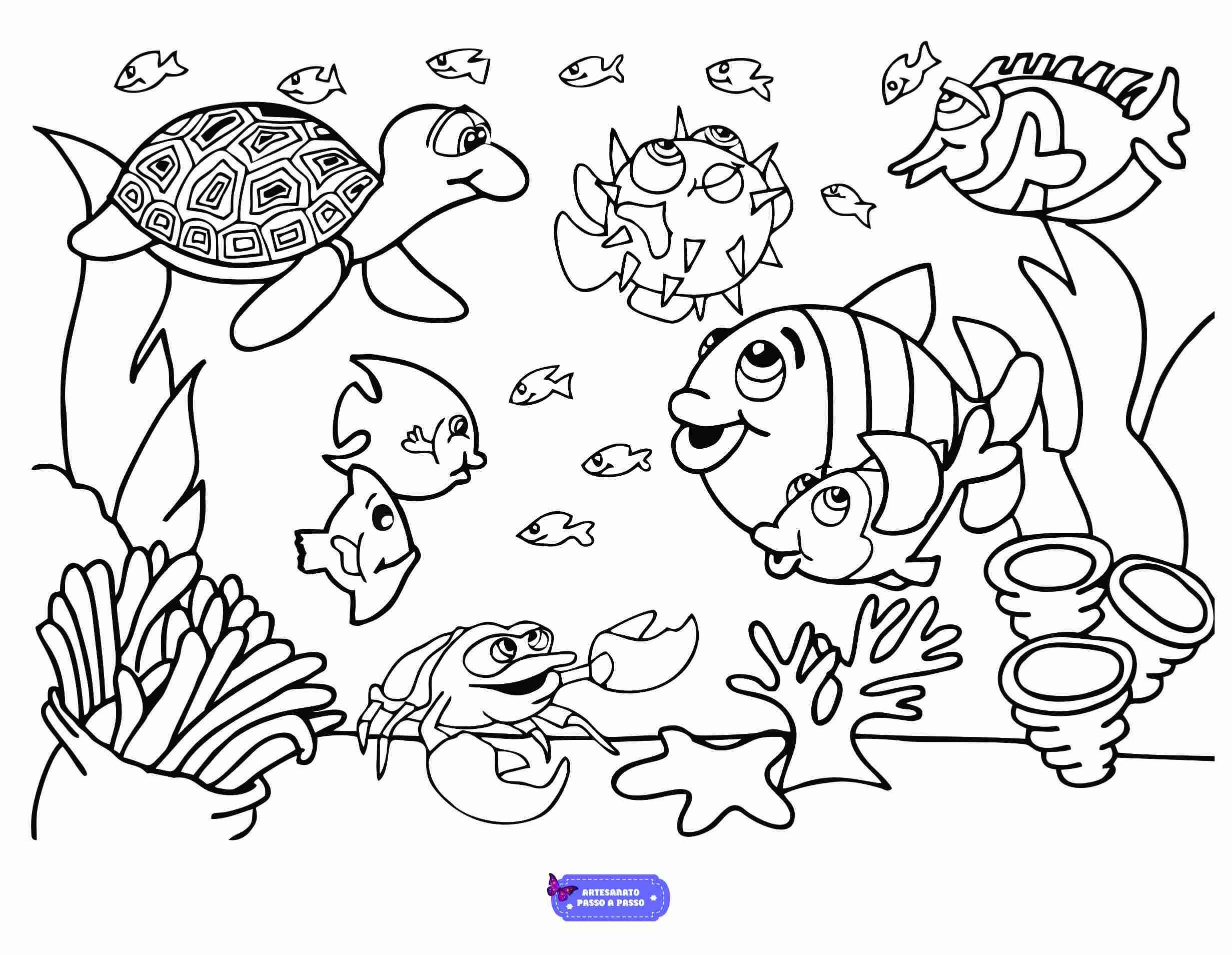 Desenho para pintar e imprimir de bichinhos