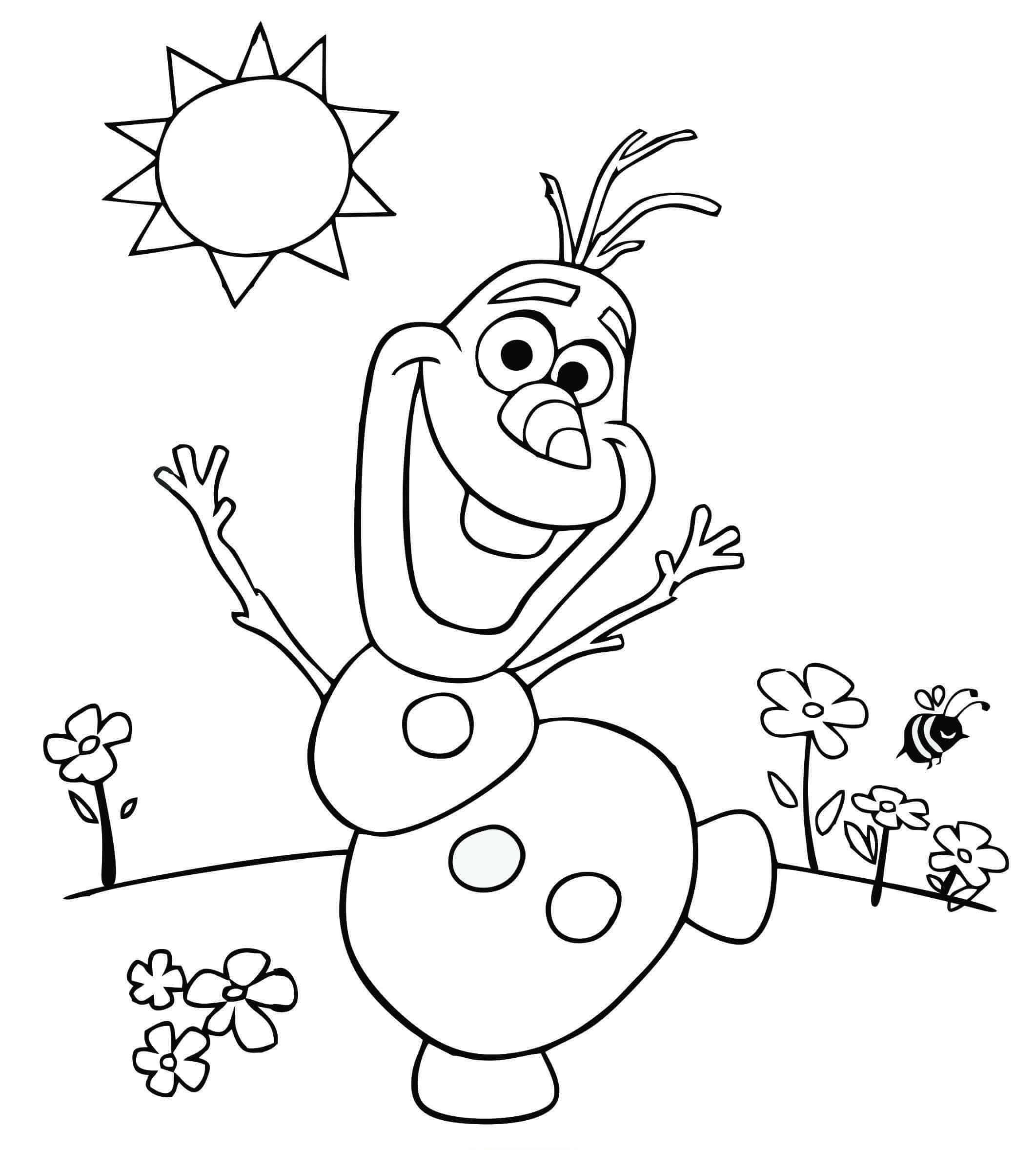 Desenho para pintar frozen