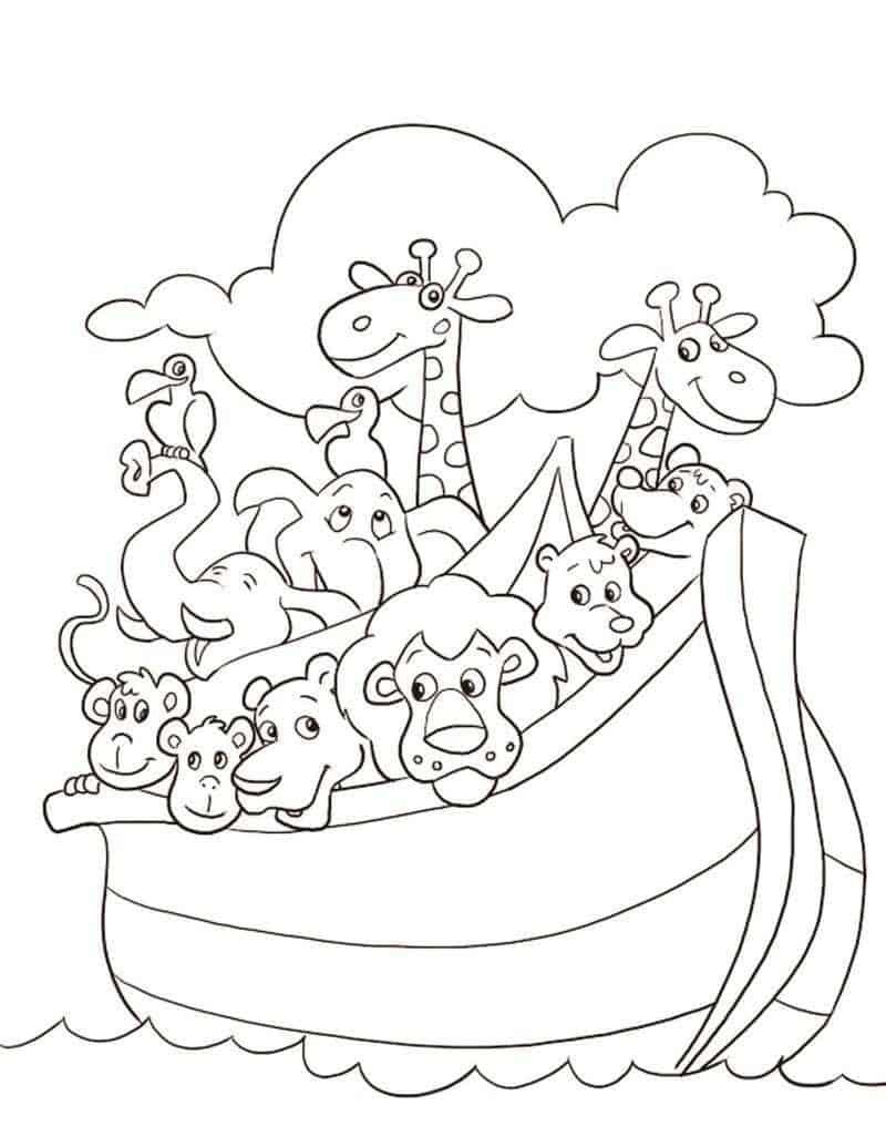 imagem para colorir arca de noé