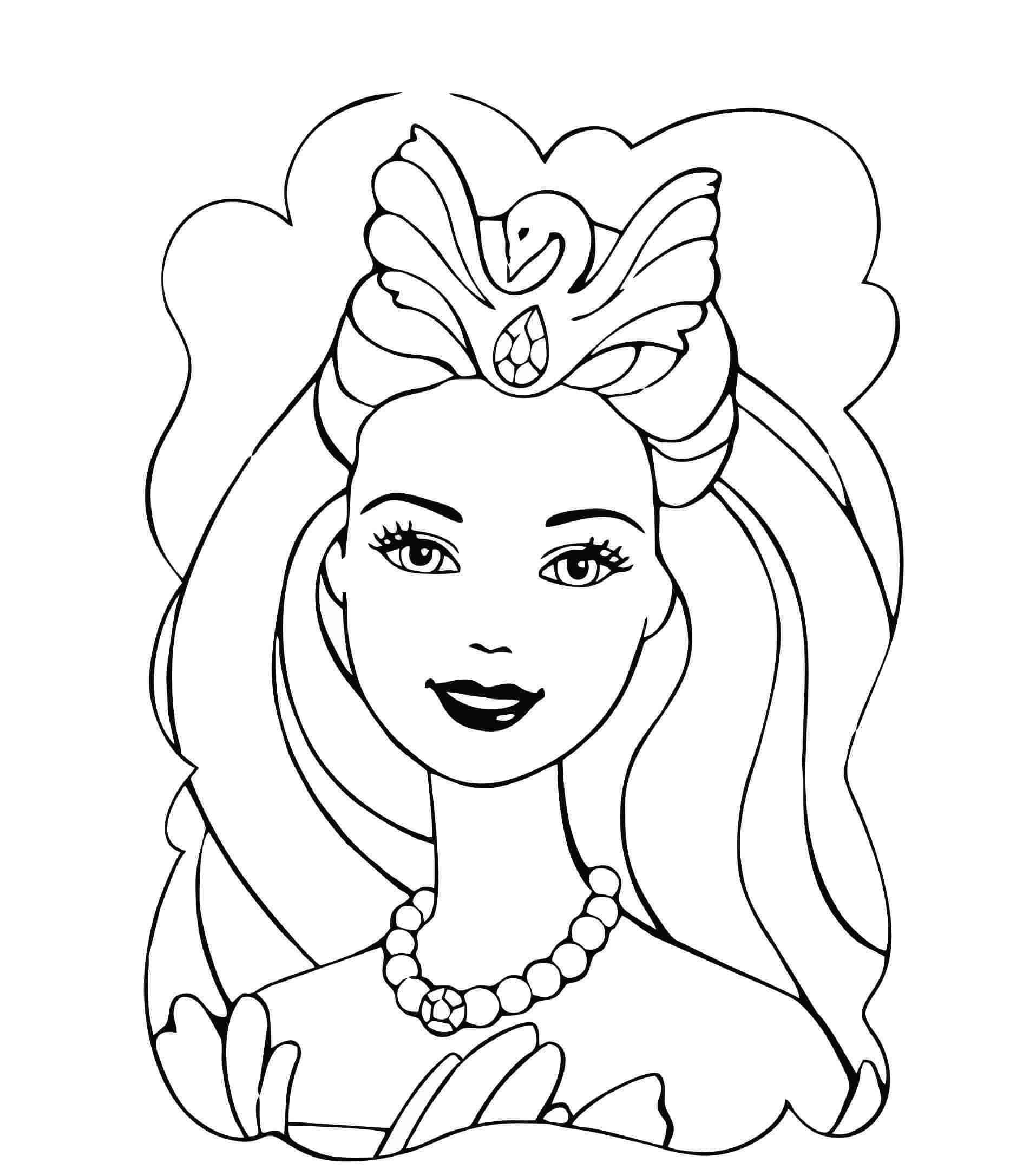 barbie princesa para colorir