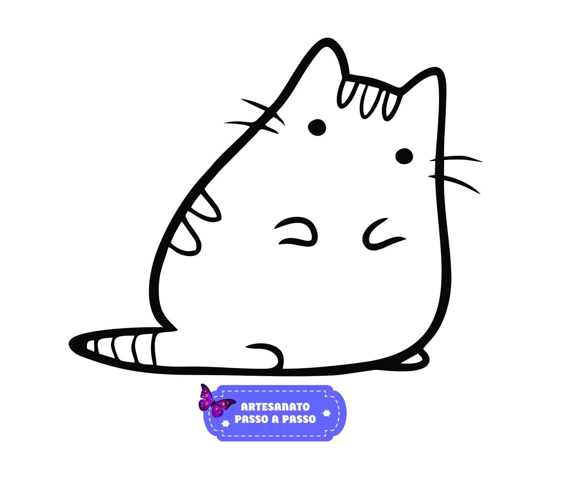 Desenhos de gatos para colorir