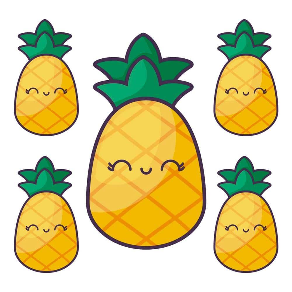 abacaxi colorido