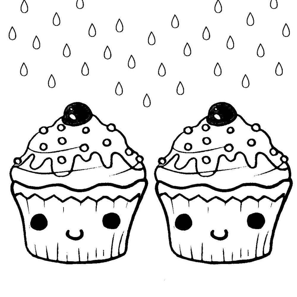 cupcake para colorir