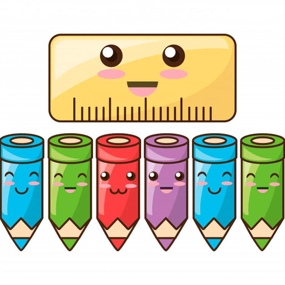 imagem de lapis de cor para imprimir