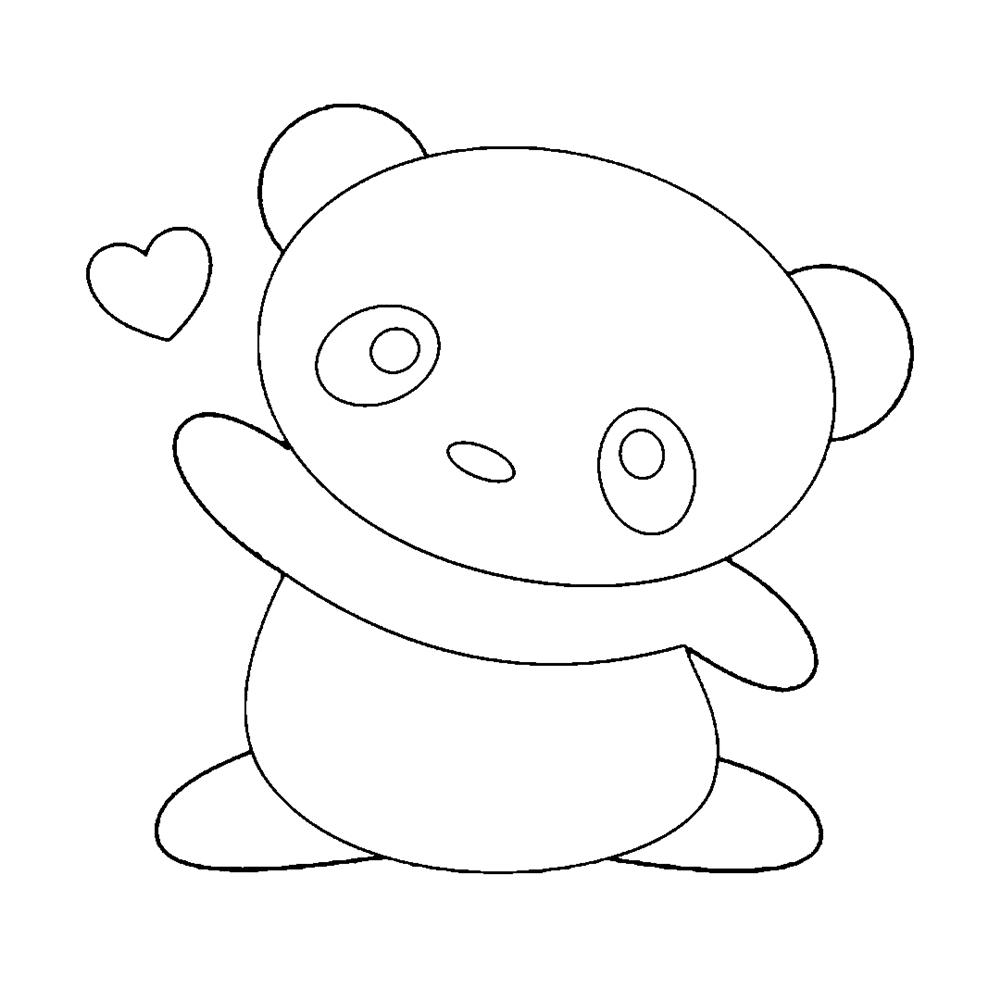 desenhos kawaii panda