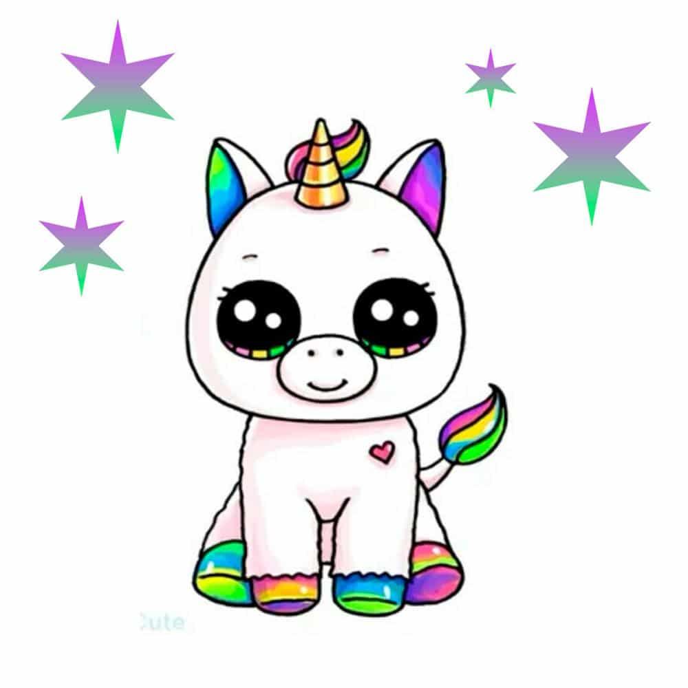 unicornio kawaii para colorir e imprimir