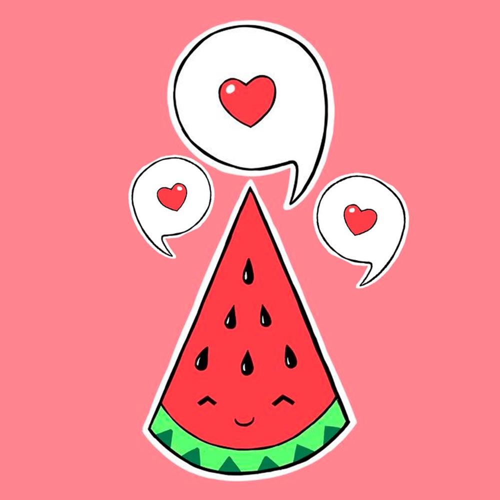 melancia colorida