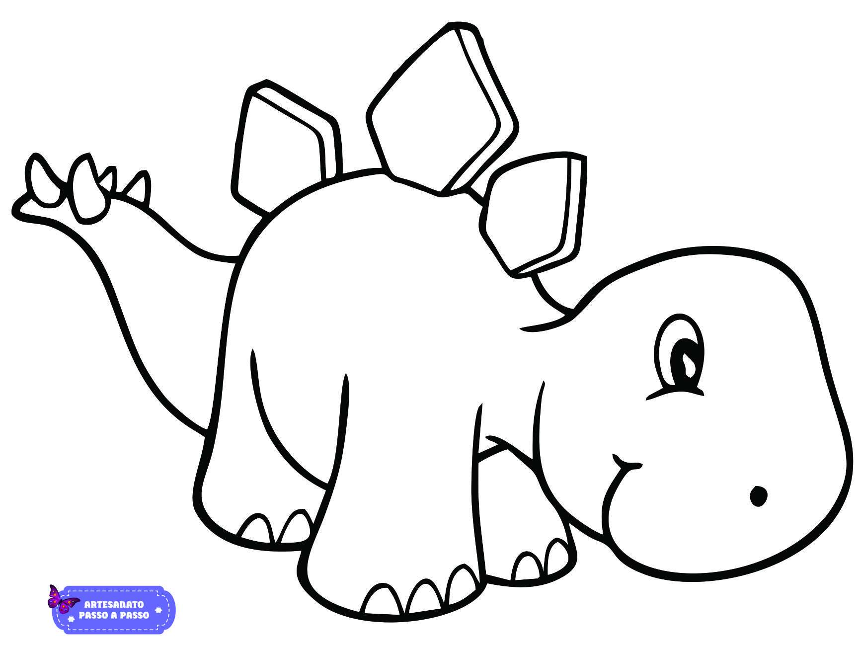 Desenho De Dinossauro Para Colorir Artesanato Passo A Passo