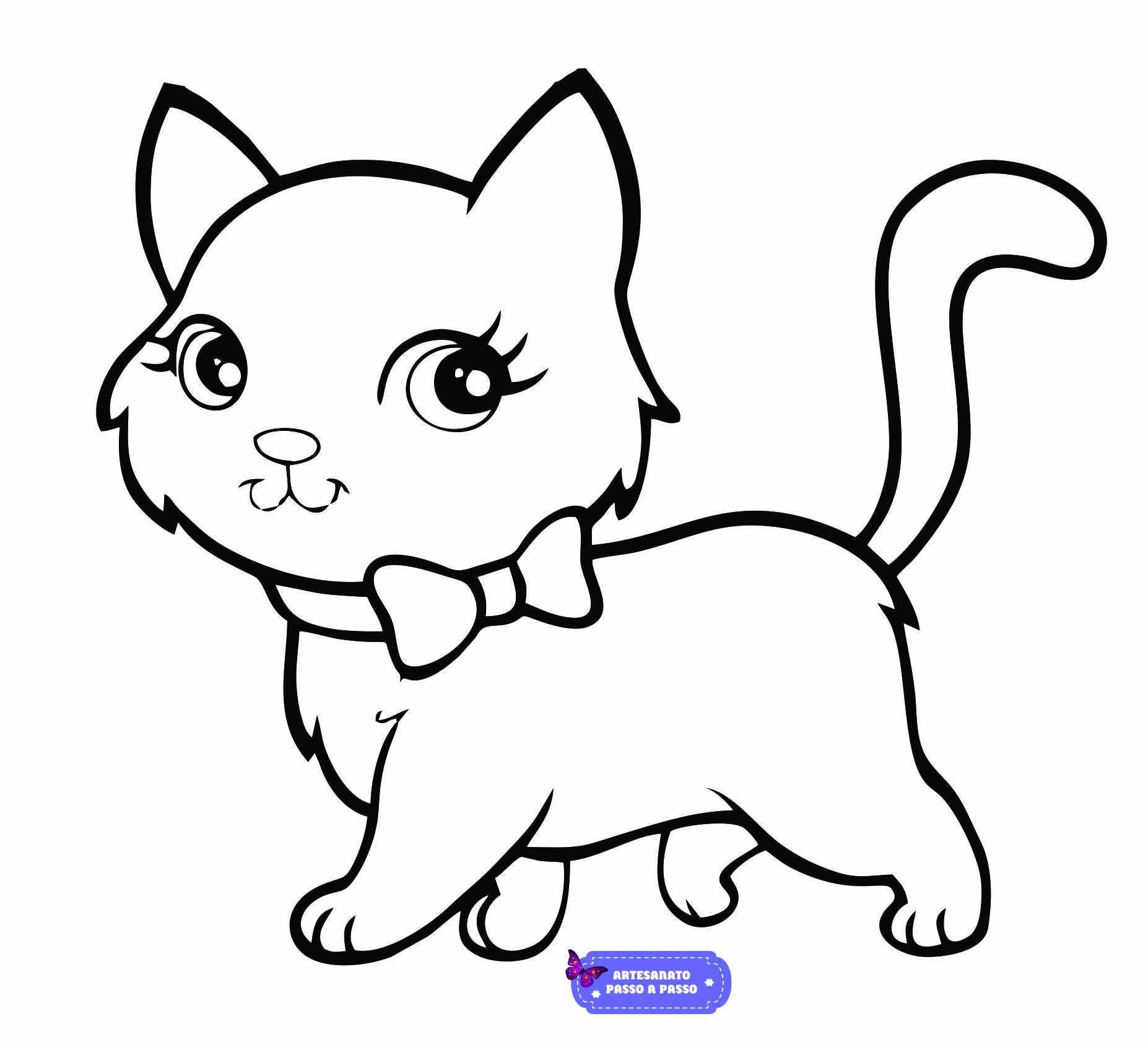 gatinha para colorir