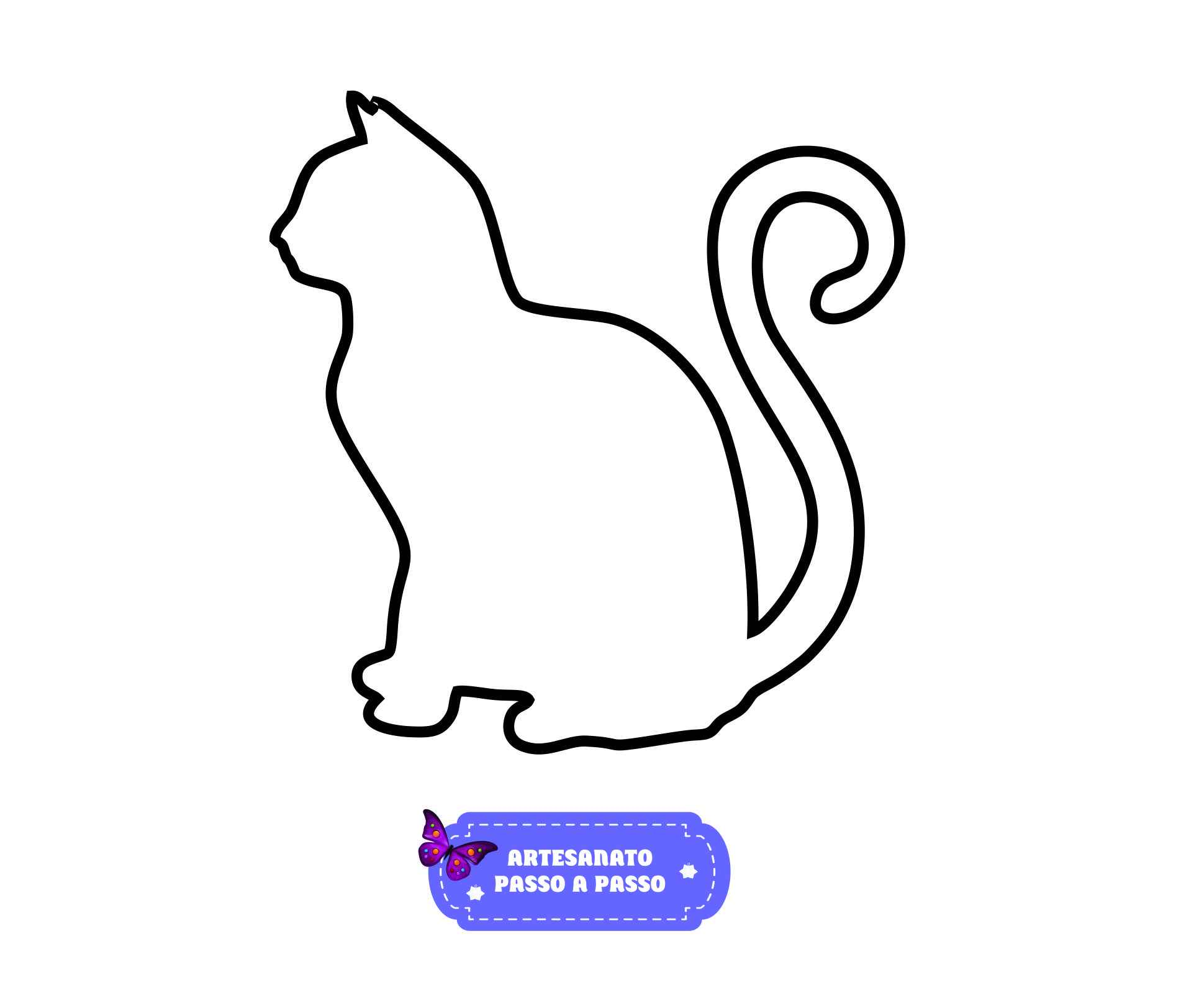 Desenhos de gato fácil