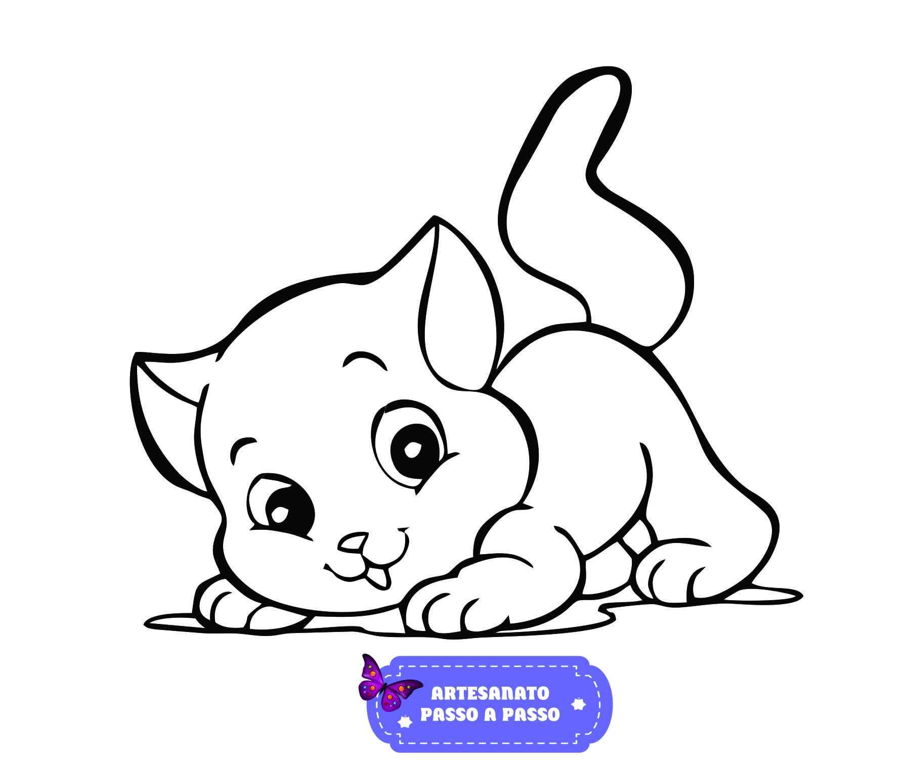 Desenhos de gato fácil de fazer
