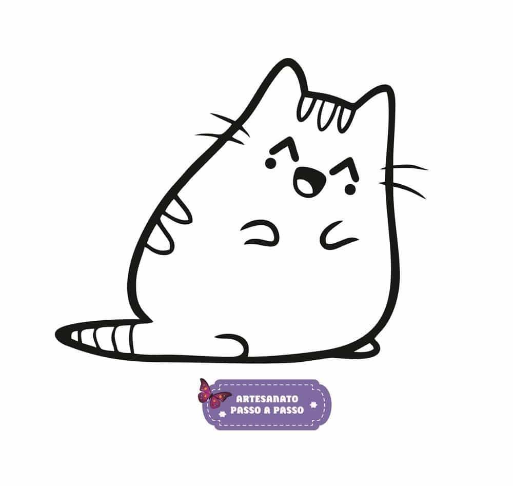 Gato Para Colorir Desenhos Para Imprimir Artesanato Passo A Passo