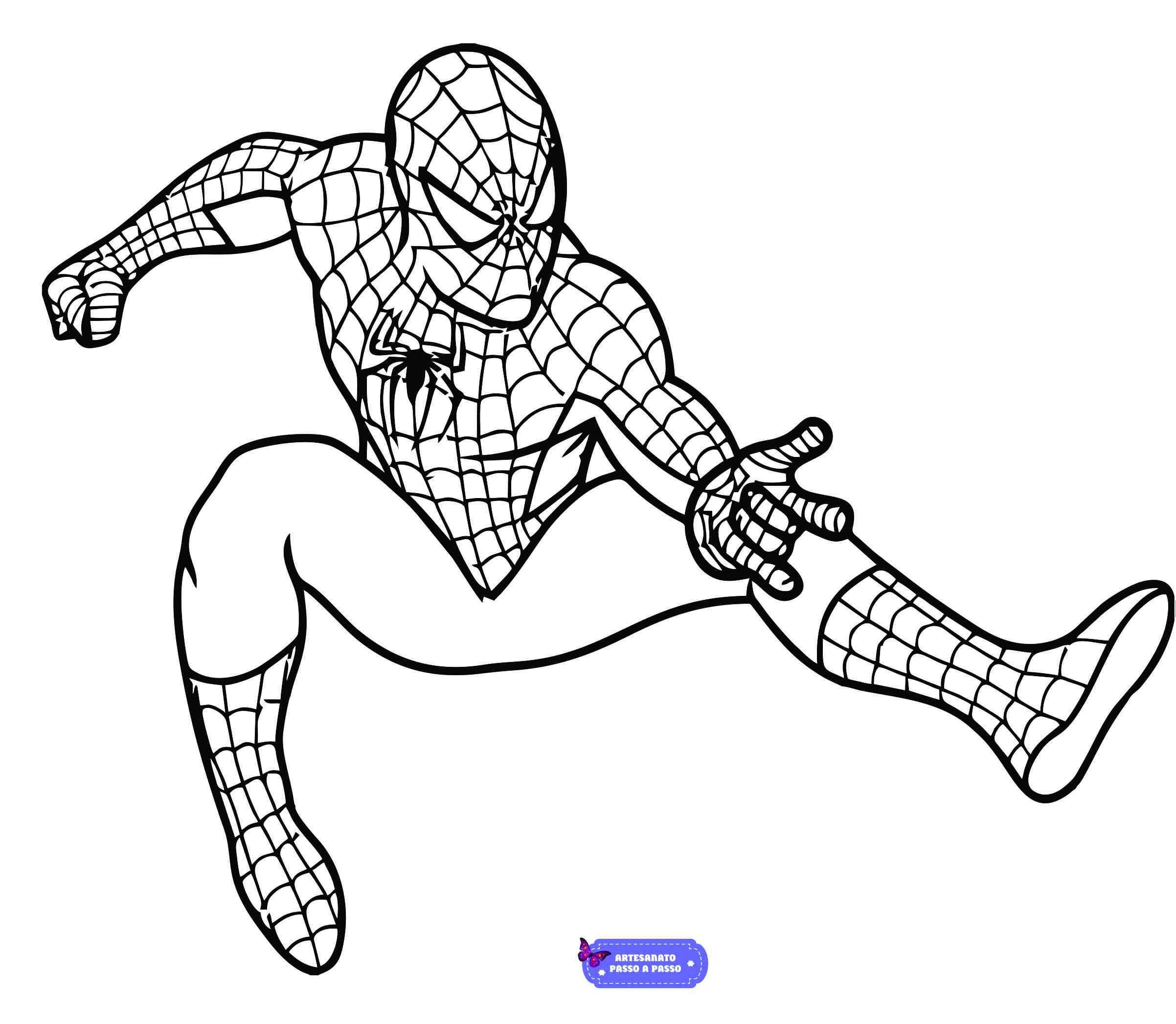 desenho do homem aranha 3 para colorir