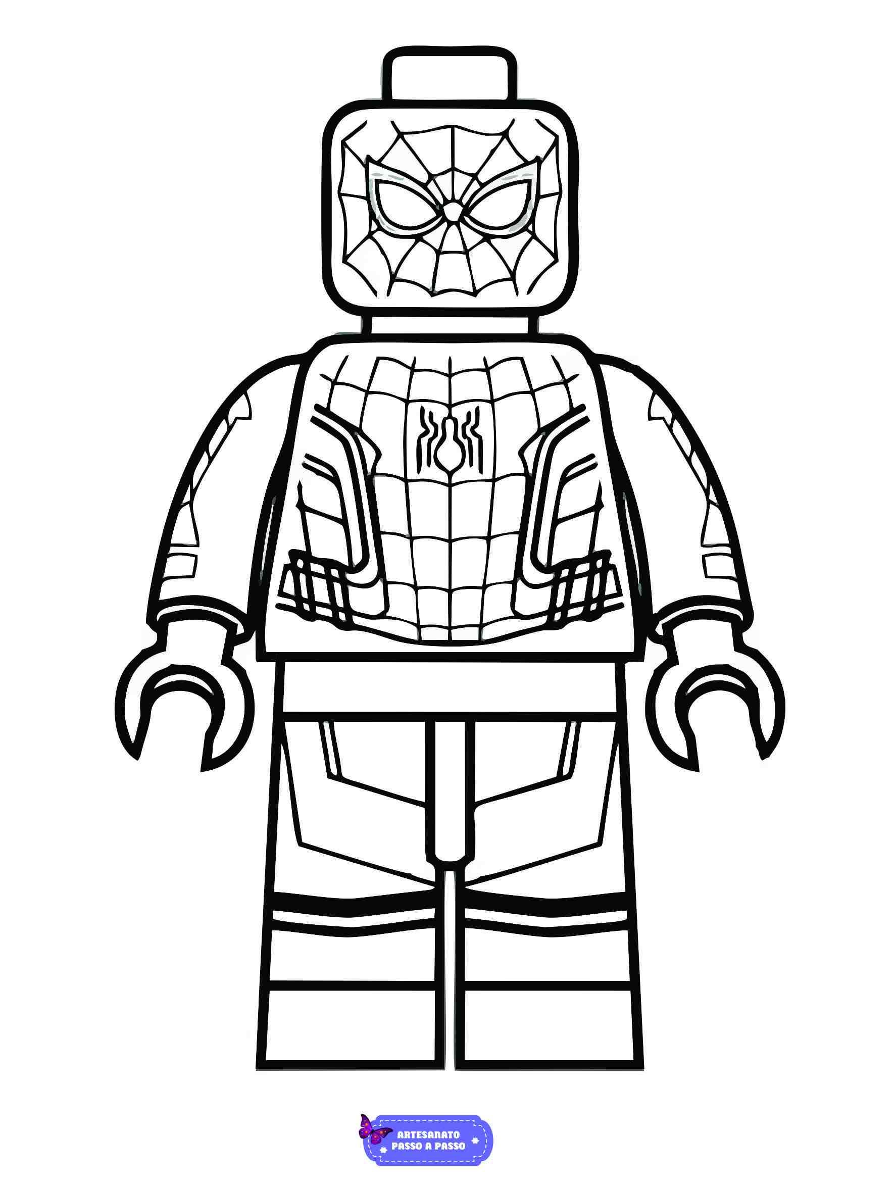 desenho do homem aranha lego