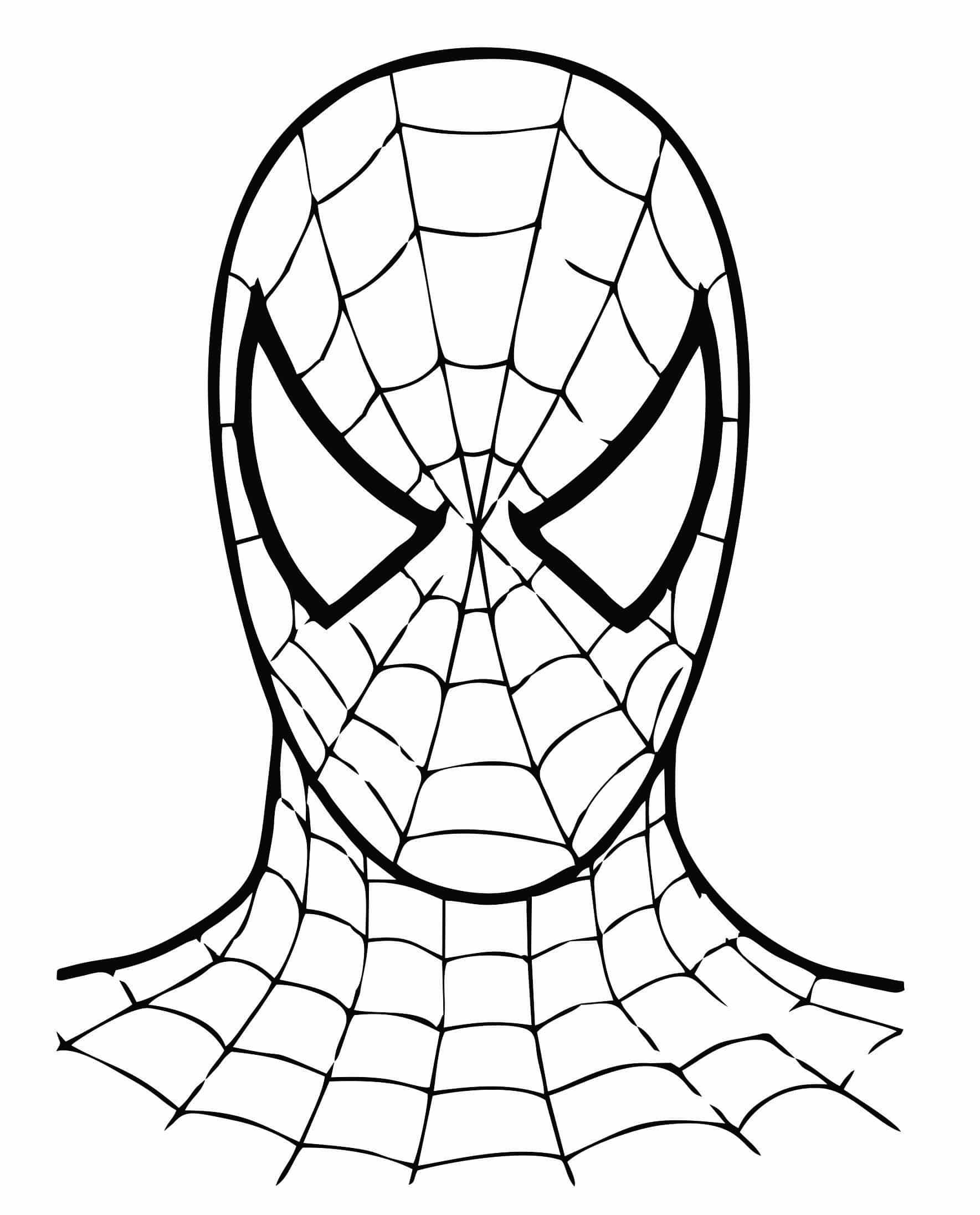 homem aranha para colorir