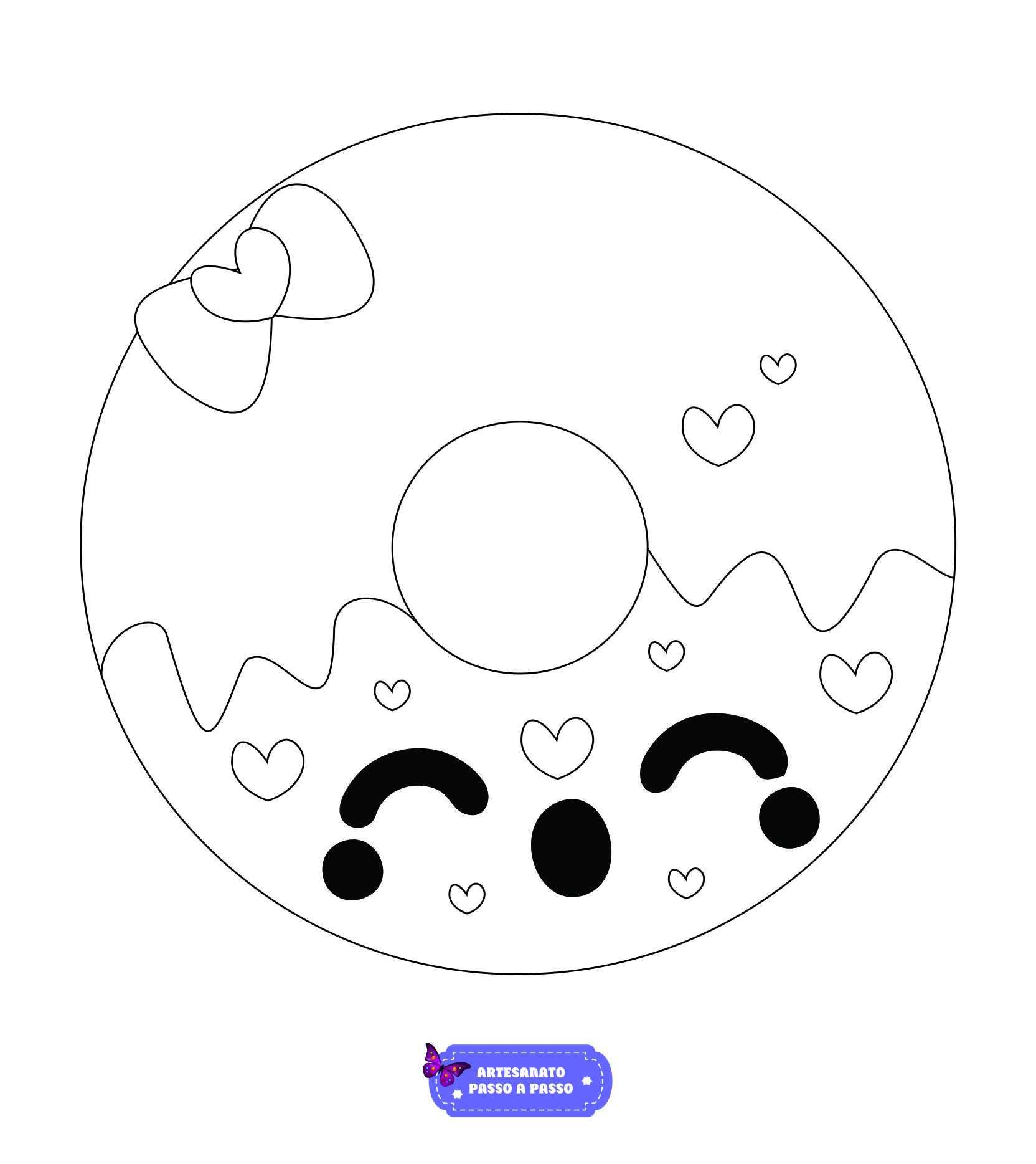 Desenhos Kawaii Para Colorir Artesanato Passo A Passo