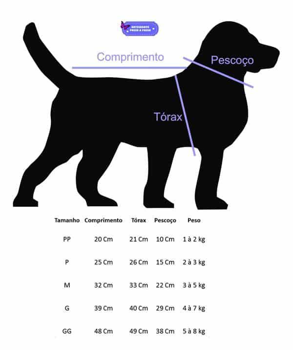 medidas cachorro