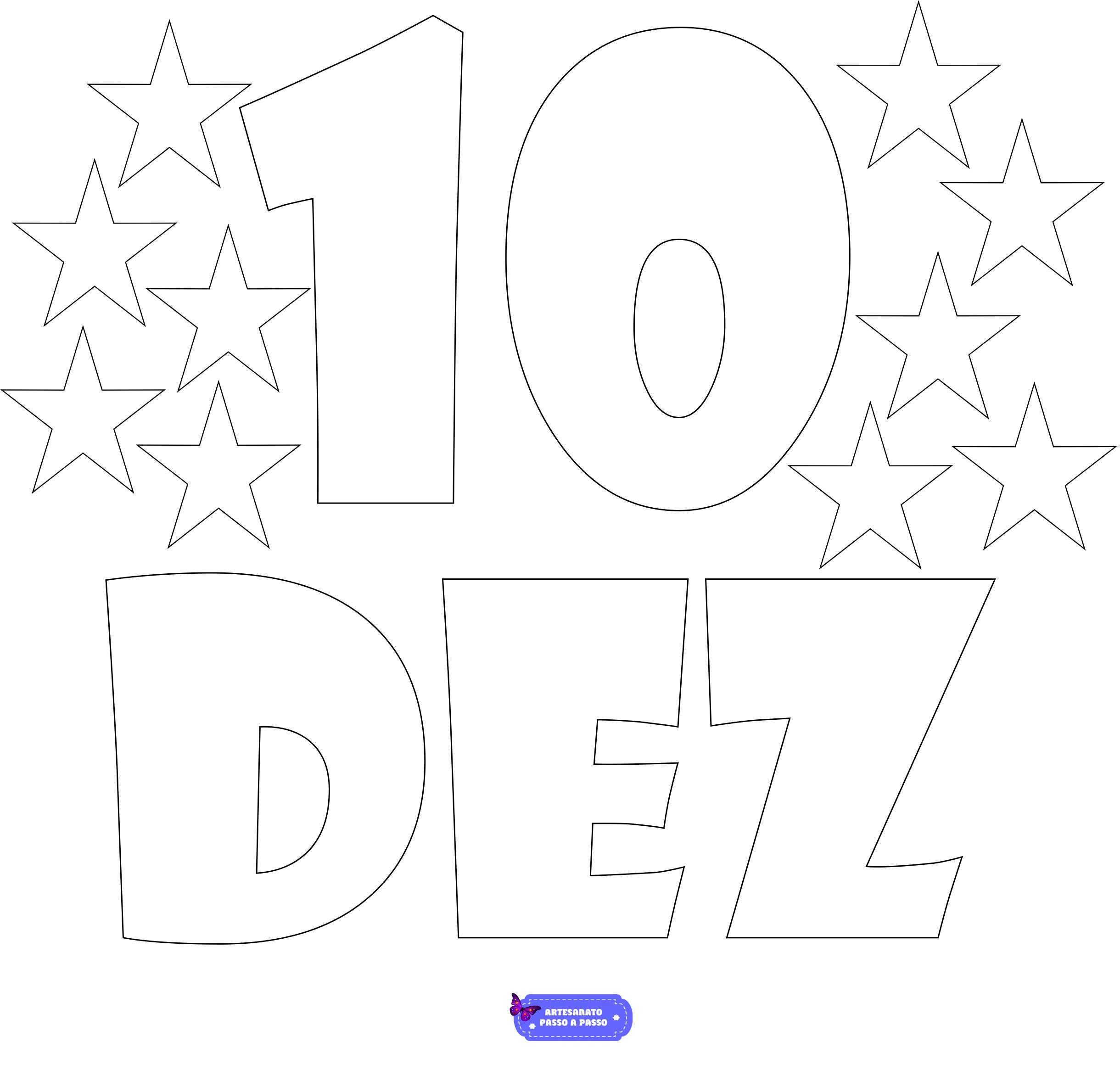 numero 10 para colorir