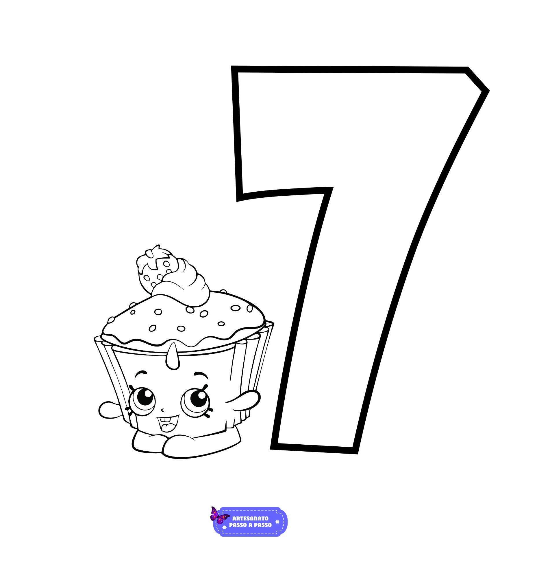 numeros para colorir com desenho