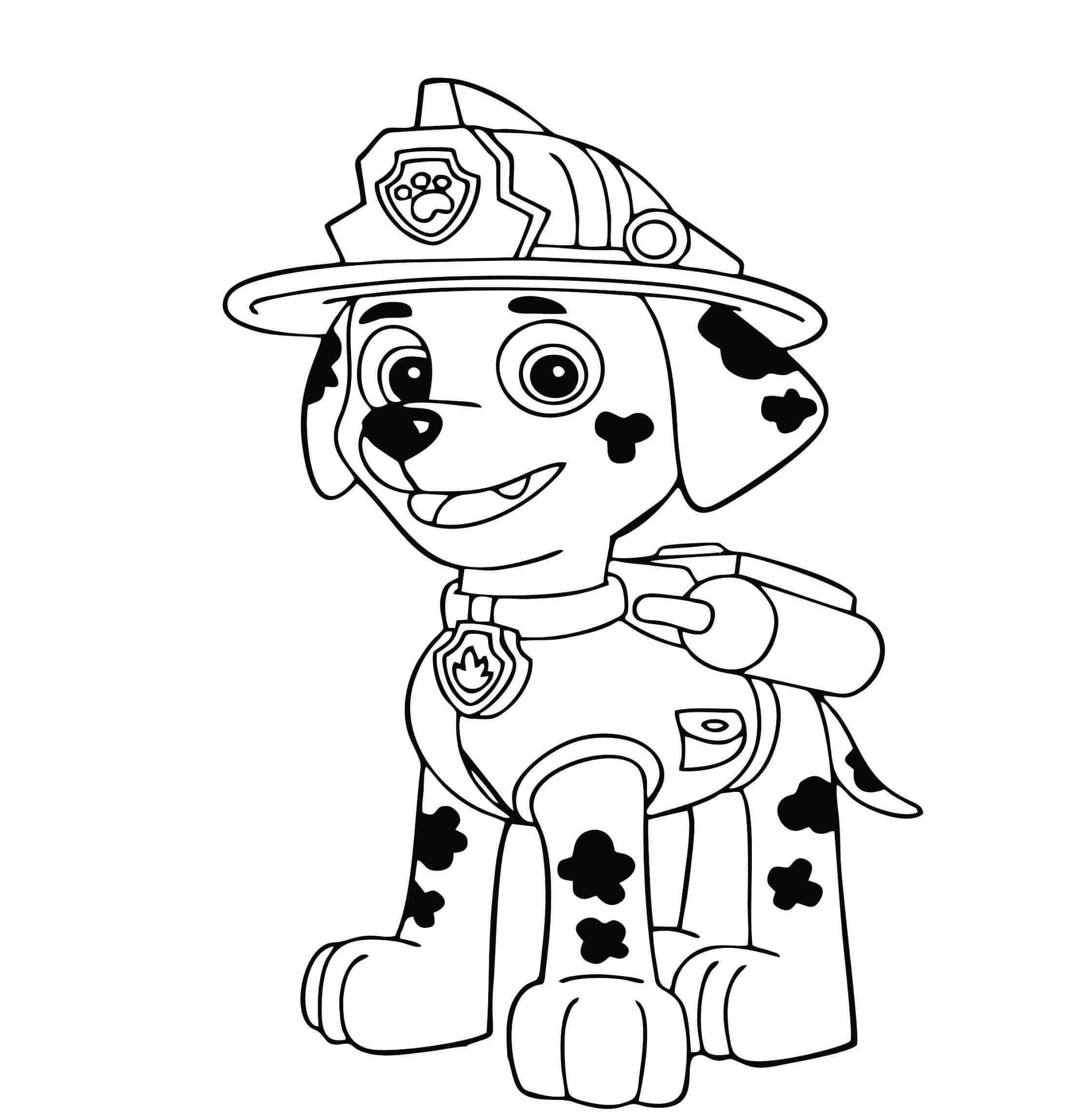 patrulha canina colorir marshall