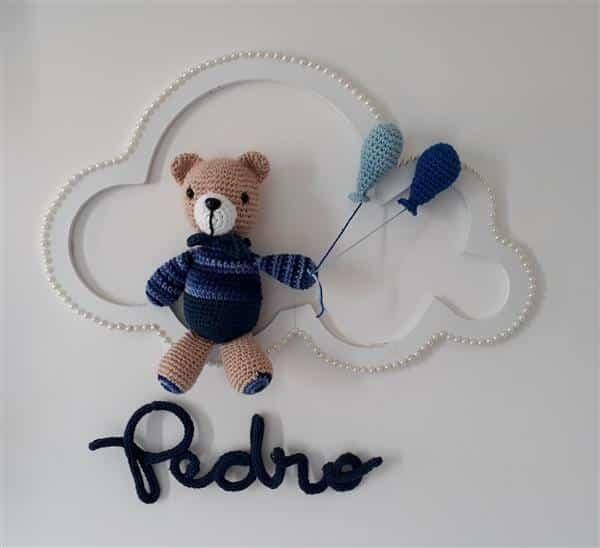 Urso aviador | Ursinho aviador, Urso de crochê, Receitas amigurumi | 548x600
