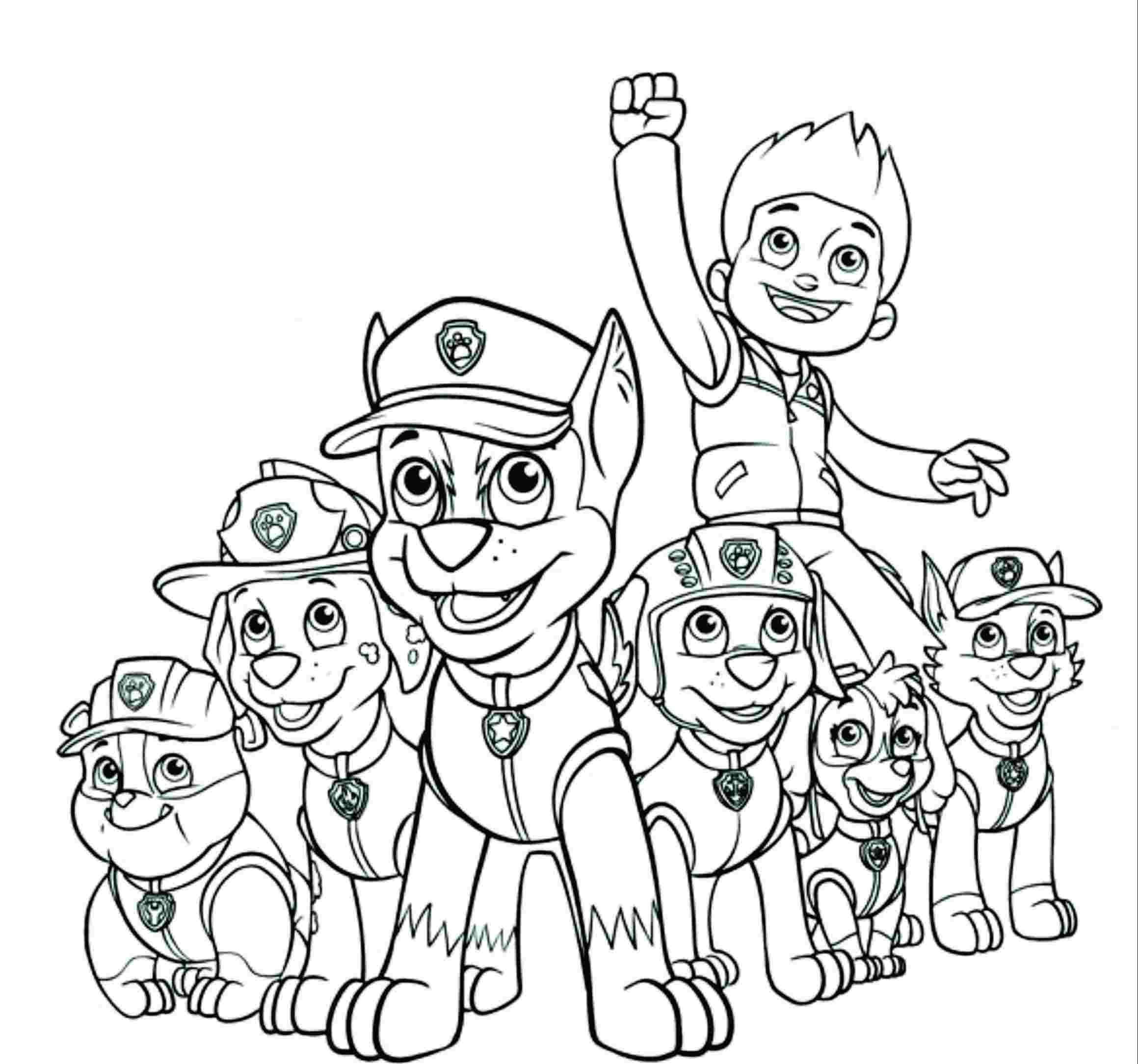 turma da patrulha canina para colorir