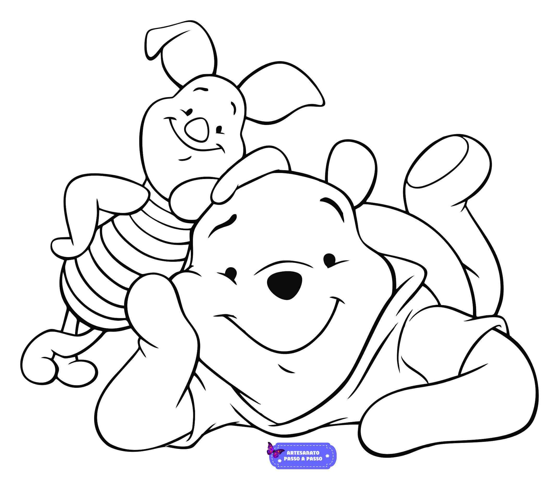 ursinho puff para colorir