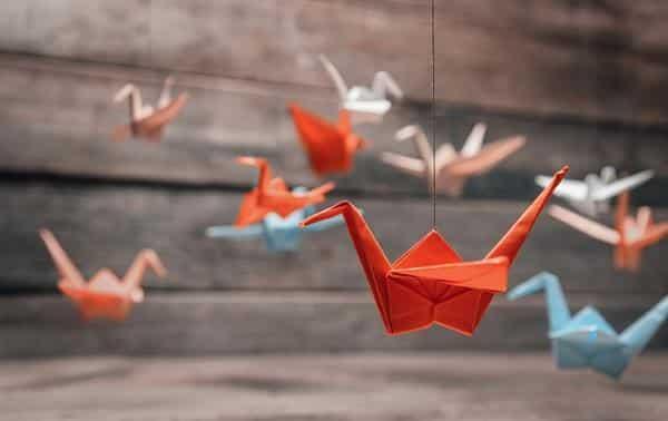 passaro de origami