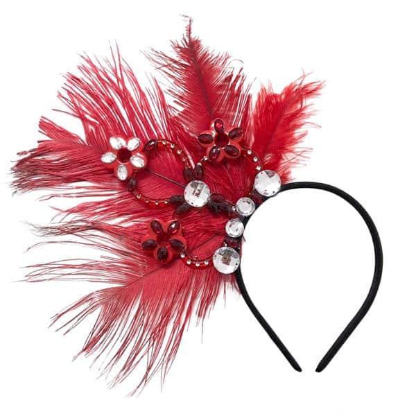 Tiara vermelha para carnaval