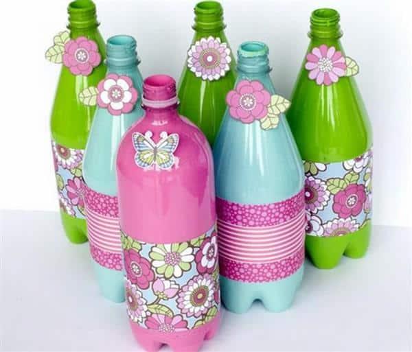 arte com garrafa pet 1 litro