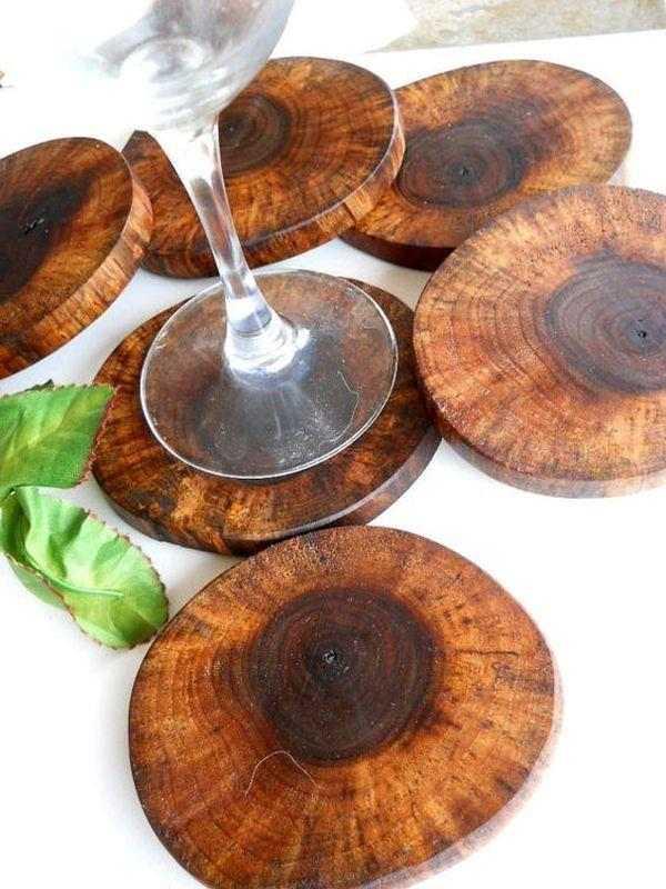 artesanato com madeira rústica