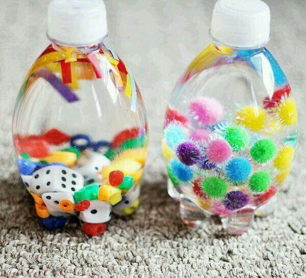 artesanato com mini garrafa pet