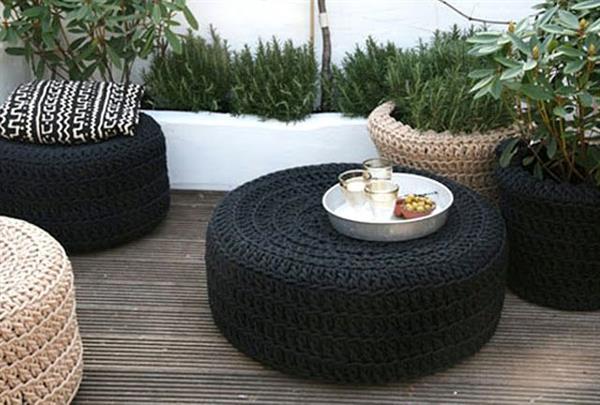 artesanato com pneu