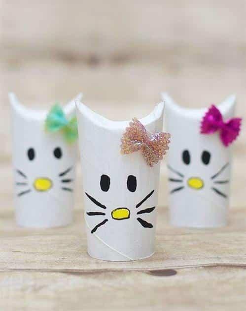 artesanato infantil com rolinho de papel