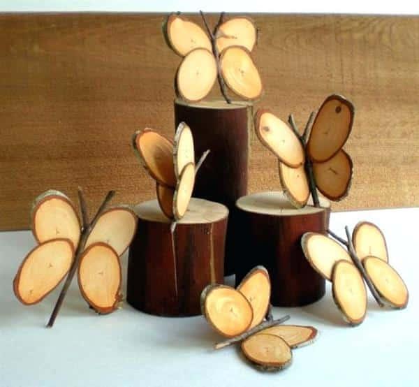 borboletas de madeira