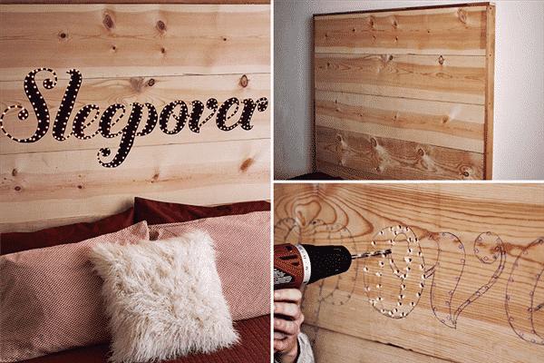 cabeceira-para-cama de madeira