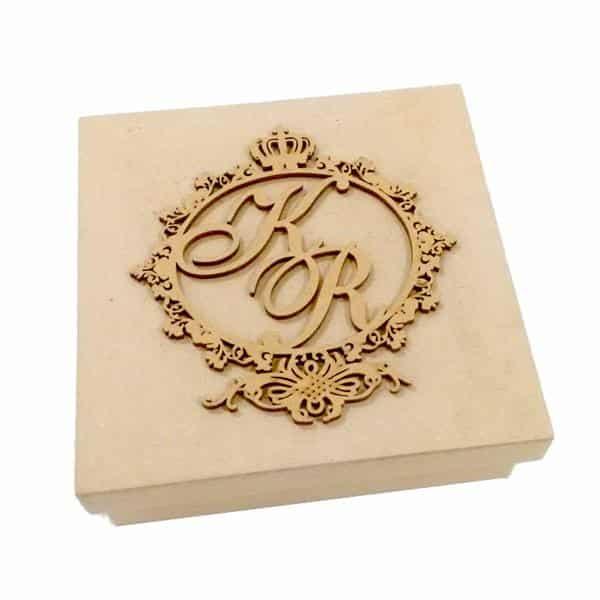 caixa de mdf decorada casamento
