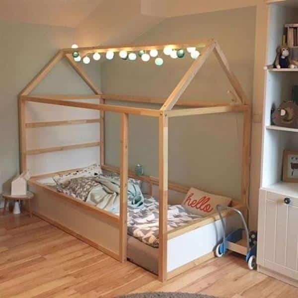 cama montessoriana madeira