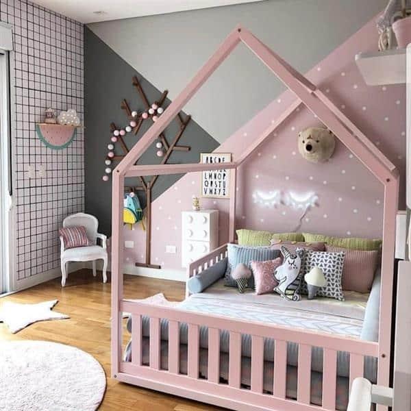 cama-montessoriana-quarto menina